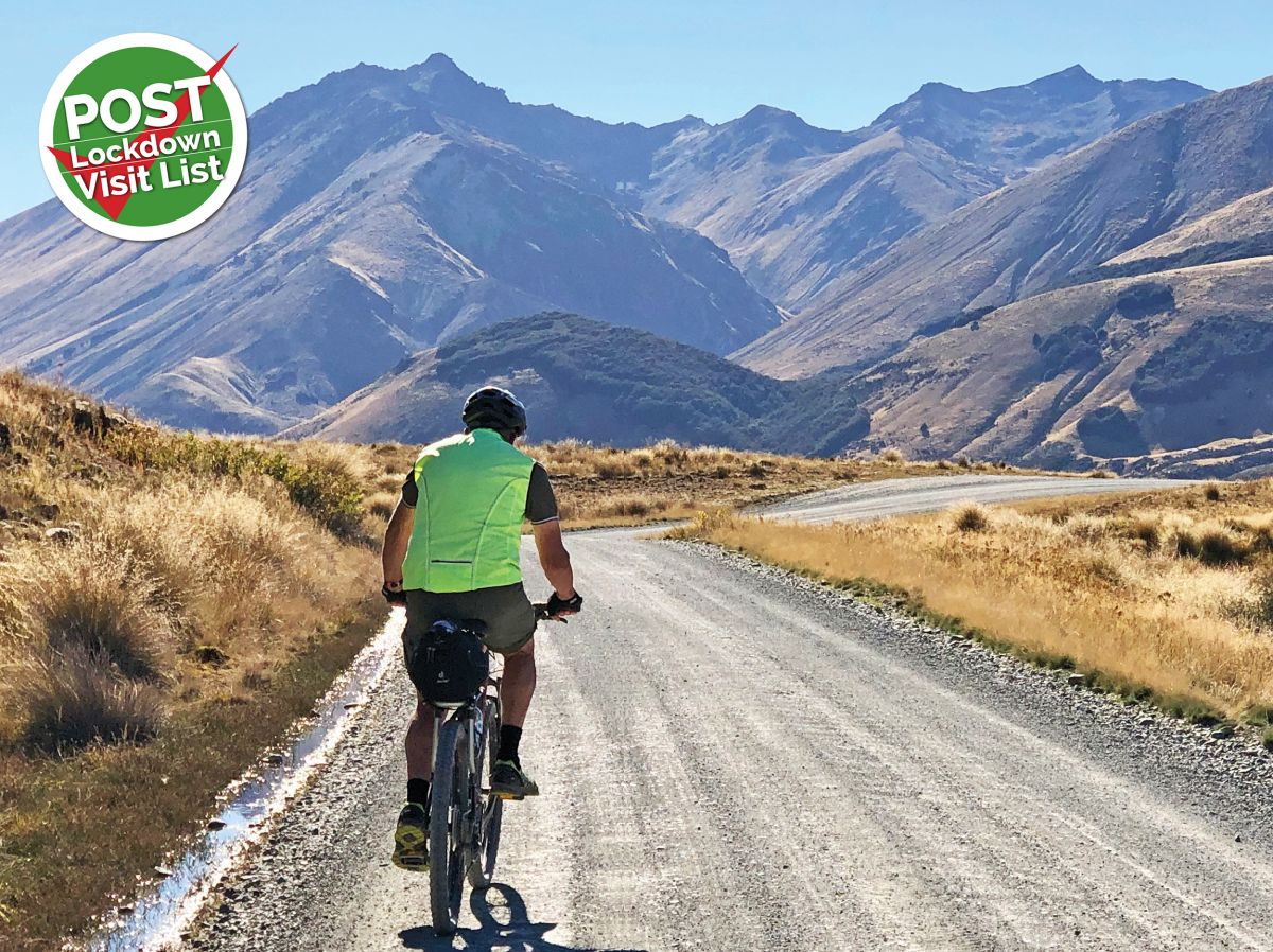 The Around the Mountains Trail circles the Eyre Mountains, beginning and ending on Lake Wakatipu. The total trail is 186kms, classed Grade 2-3, and is usually cycled over four days.