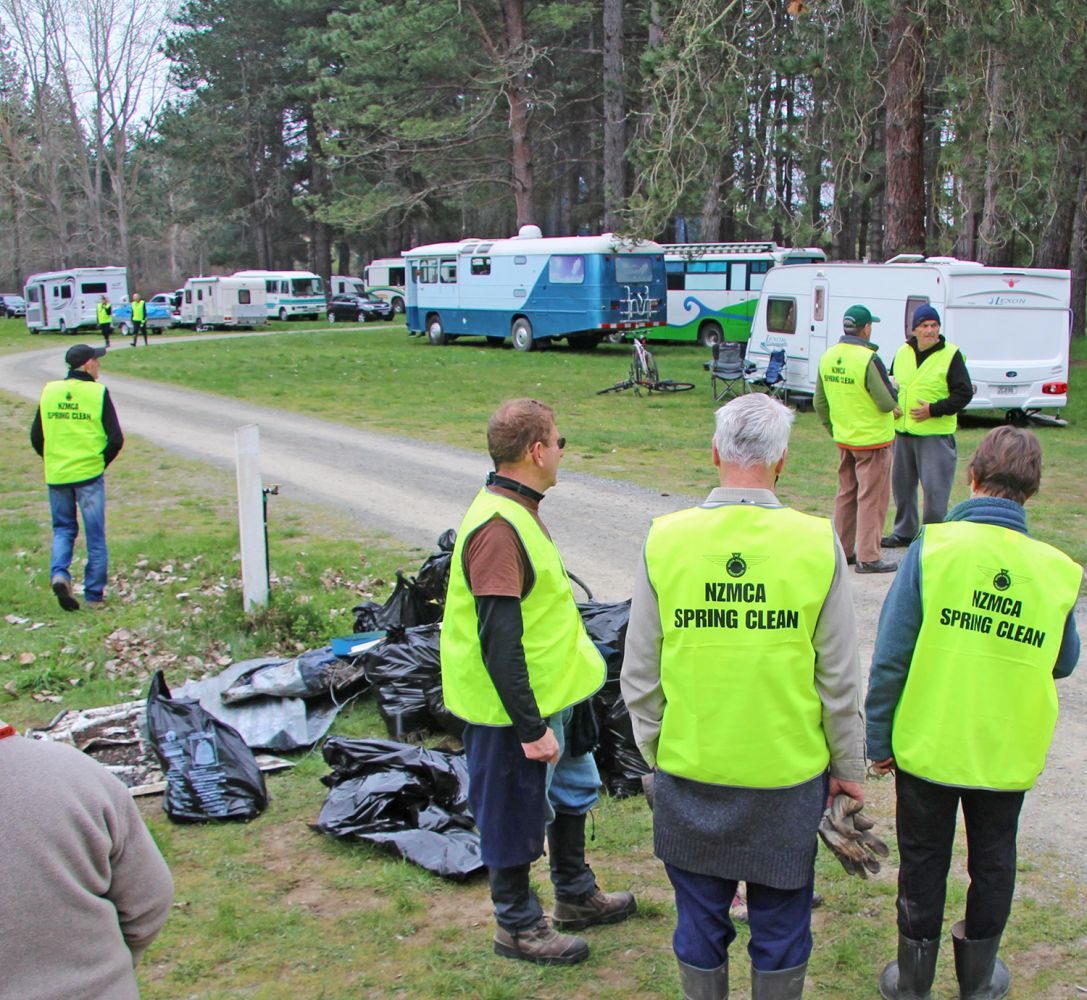 The North Canterbury NZMCA Area doing the annual Spring Clean